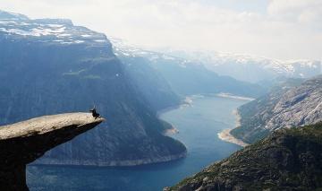 On top of the world - Trolltunga, Norway