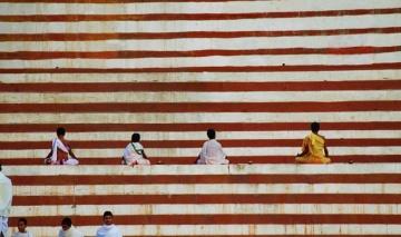 Praying in Varanasi