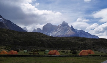 Base camp in Torres del Paine National Park - Patagonia - Chile